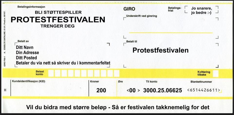 FB-aksjon: Redd Protestfestivalen!