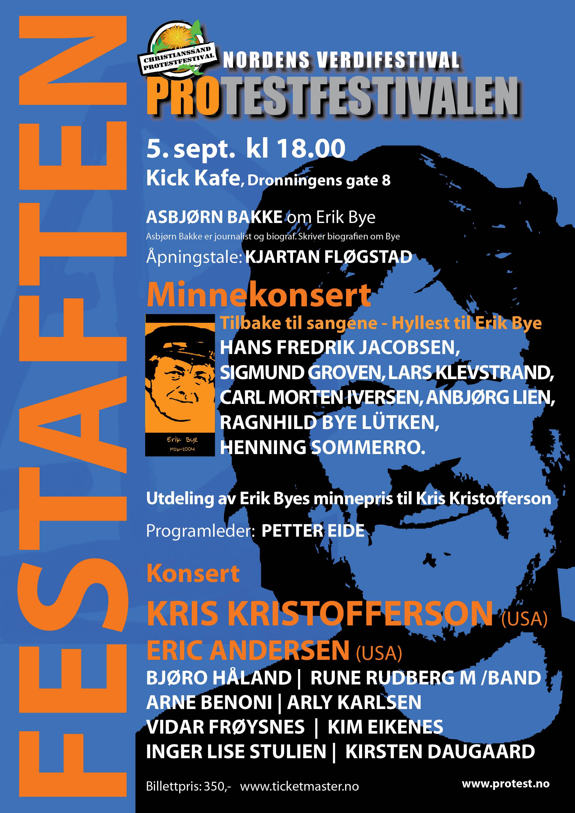 Protestfestivalen 2016 Festaften plakat